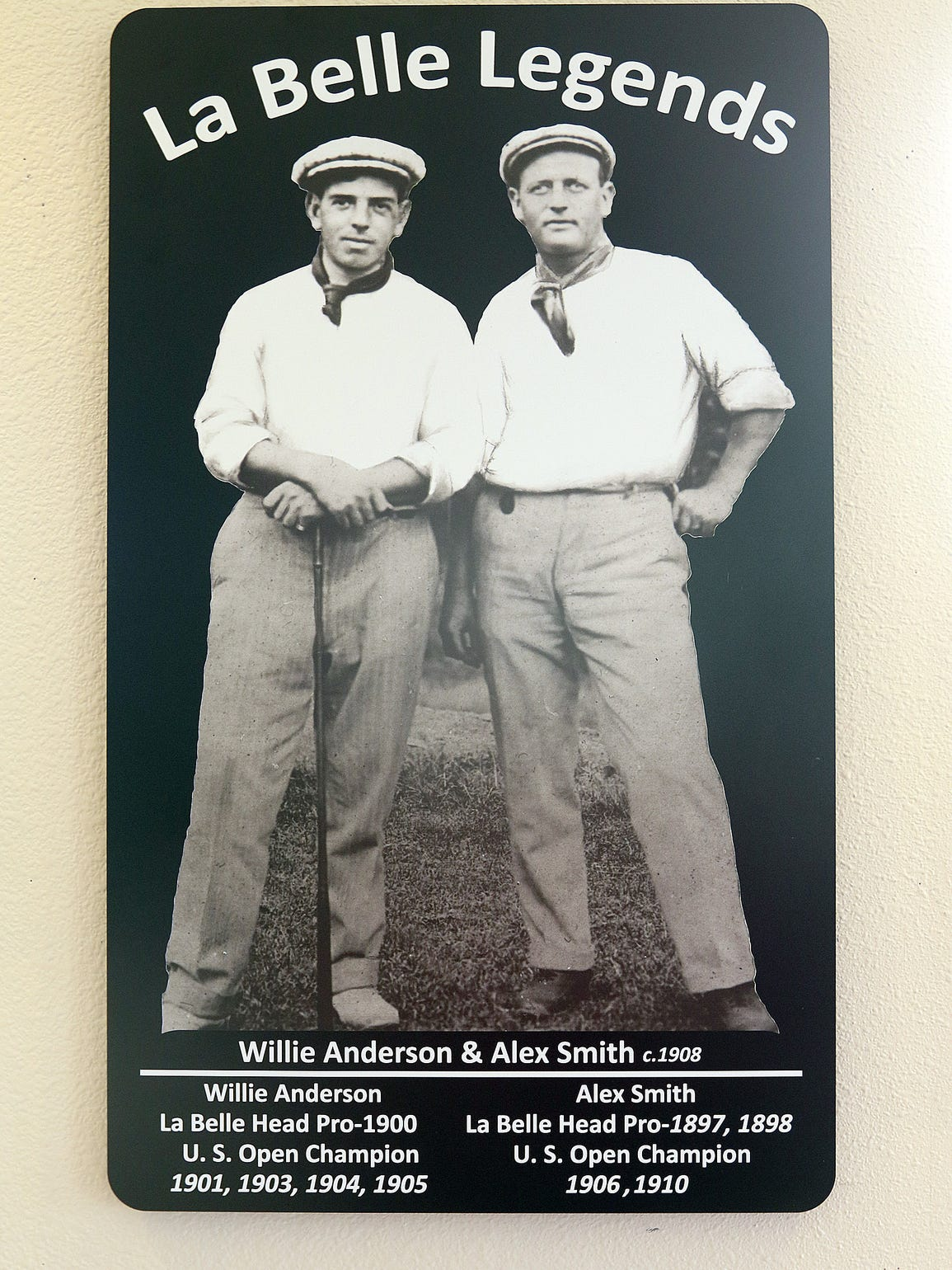 Willie Anderson (left) and Alex Smith are commemorated