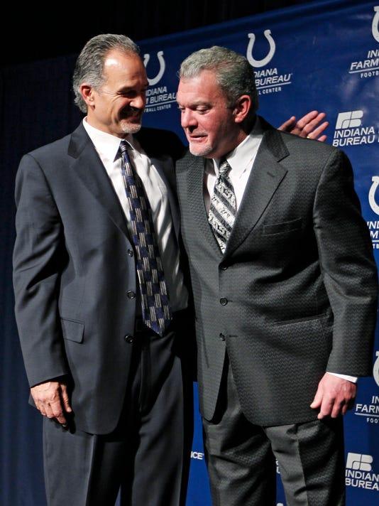 Chuck Pagano, Jim Irsay