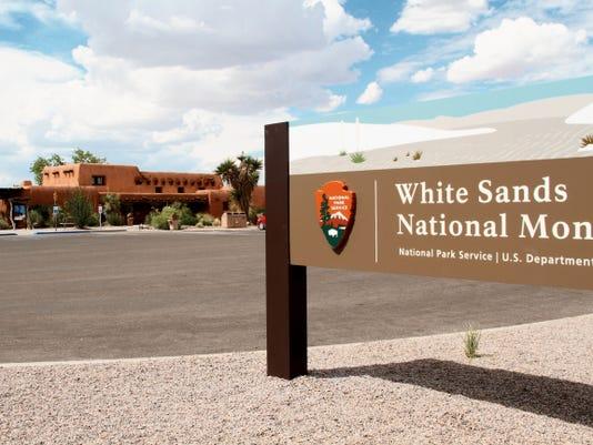 White Sands Monument Sign