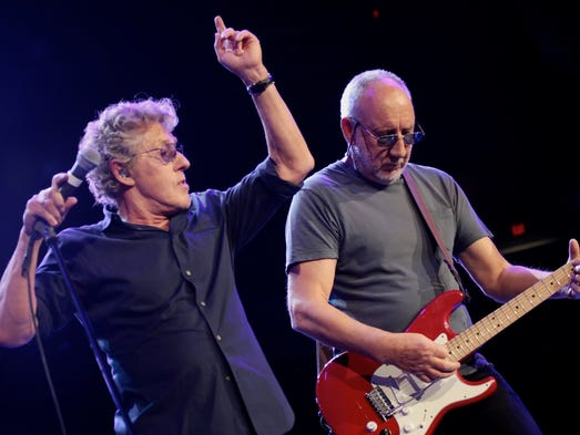 The Who vocalist Roger Daltrey and guitarist Pete Townshend