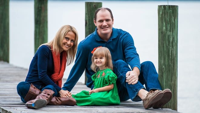 Lynn Haven residents Jamie and David Yates, with daughter Susanna, hope to be operating the first of their planned Captain D's restaurants in Tallahassee by this time next year.