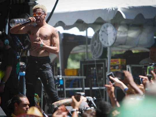 Chicago rapper Vic Mensa performs on the second day of Dover's Firefly Music Festival in 2014.