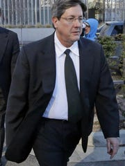 This Jan. 21, 2015, file photo, Lyle Jeffs leaves the federal courthouse in Salt Lake City.