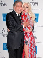 Tony Bennett and Lady Gaga attend the 2015 National