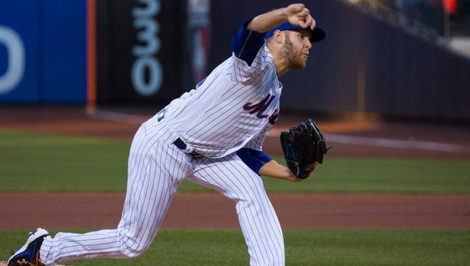 Zack Wheeler fires a pitch Tuesday.