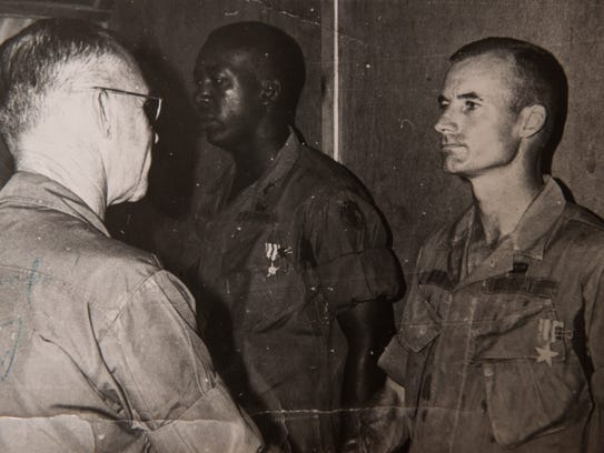 Byrd is awarded the Silver Star for his actions during