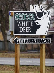 Visitors can find the entrance to Deer Haven Park near