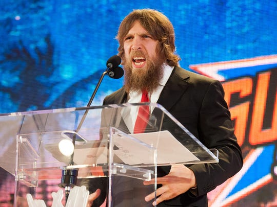 Daniel Bryan speaks at this 2013 WWE SummerSlam news conference at the Beverly Hills Hotel in California.