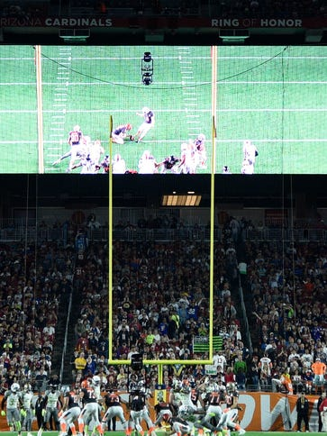 Goalposts at the Pro Bowl were narrowed from 18 feet