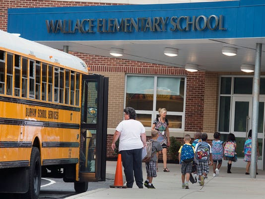 The first day of school at Wallace Elementary School in West Manchester Township Wednesday August 19, 2015. Paul Kuehnel - York Daily Record/ Sunday News