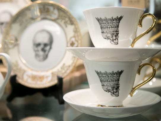 Skeleton china at Remedies Parlor in Fort Myers.