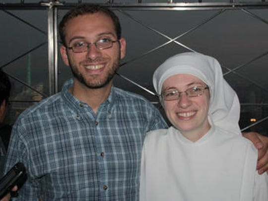 David Florian pictured alongside his sister Mary Florian, who is a Little Sister of the Poor named Sr. Mary of the Passion.