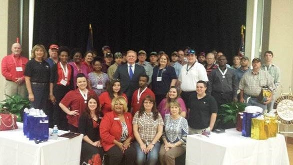 Career and technical education students and advisors for Northwest Louisiana Technical College.
