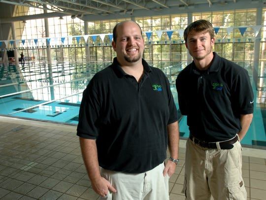 Phil Kraus, left, and Alex Gillespie, coaches for the