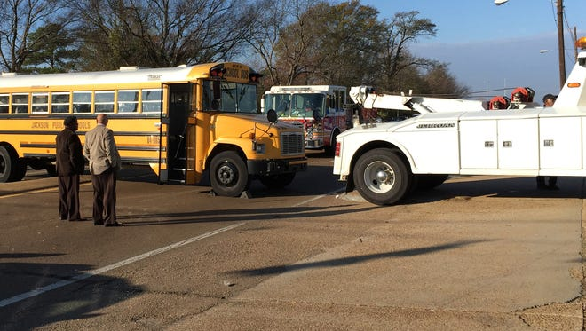 A Jackson Public School District bus was involved in an accident Thursday.