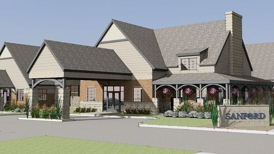 Sanford's planned new hospice center will be built on its campus off West 17th Street between Covell and Lake avenues.