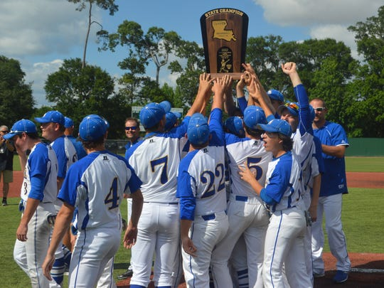 "The LaSalle Tigers hoist the Class 1A championship trophy after defeating Grand Lake last season. With the Lady Tigers softball team returning to Sulphur, can the boys do the same and complete another ""Diamond Sweep""?"