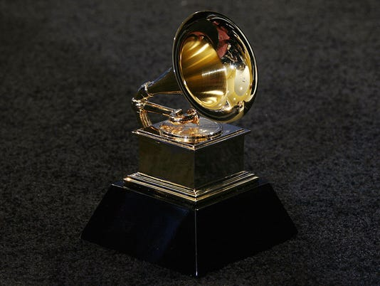 The trophy of the Grammy Awards in Los A