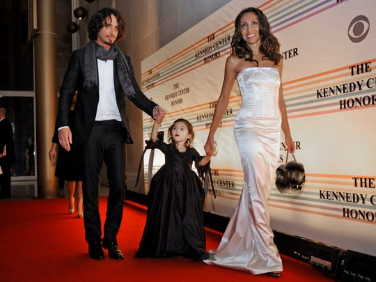 Chris Cornell, left, with his daughter Toni and wife Vicky, arriving for the Kennedy Center Honors in Washington on Dec. 7, 2008.