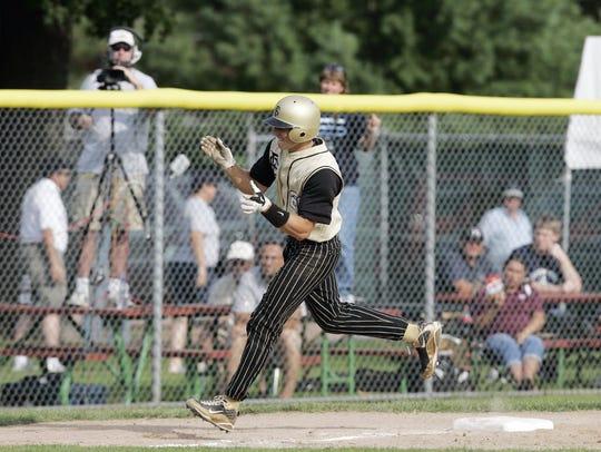 Franklin's Matt Sklander rounds third base after hitting