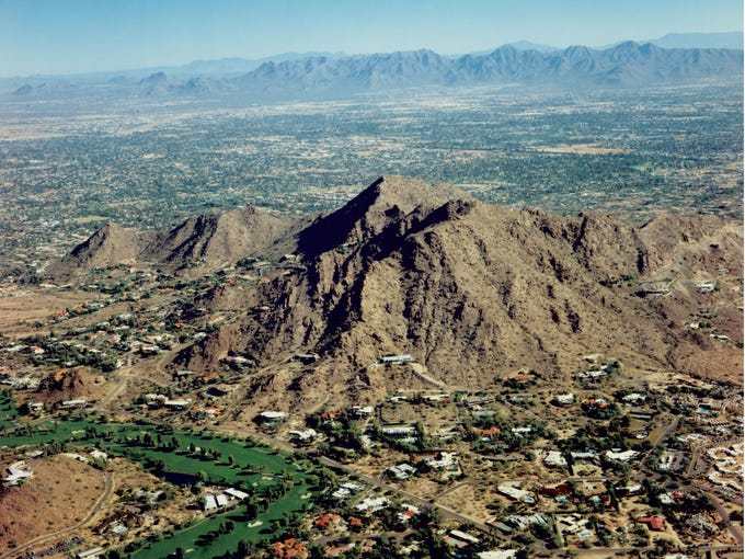The elevation of Mummy Mountain is 2,260 feet, which