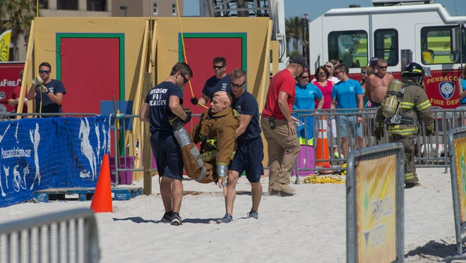 The first Pensacola Beach Firefighters Challenge, arranged by Pensacola Sports, last year proved a big success. The second event is Saturday at Pensacola Beach.