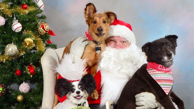 Picture Your Pet With Santa the first two weekends in December at Feeders Supply