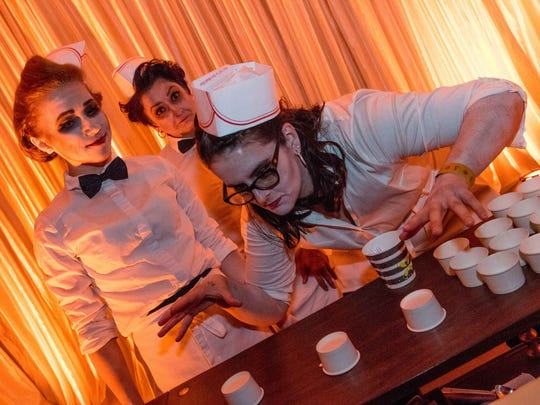Tricks and Treats were the theme at Zombo's Ice Cream Parlor, October 14, 2017.