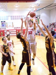 SJCC's Chase Harrison had eight points and 16 rebounds Friday.