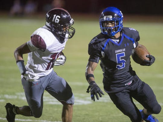 Chandler wide receiver Kolby Taylor will get to be coached again in college by his brother Kerry at Oregon State