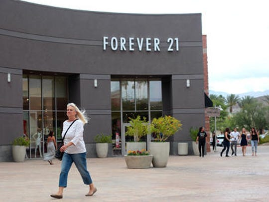 Forever 21 opened at The River at Rancho Mirage in 2012, filling the long-vacant former Borders building, helping to draw shoppers back to center which has been struggling in recent years.