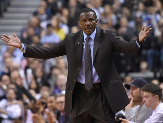 Dwane Casey was the 2017-18 NBA coach of the year with the Raptors.