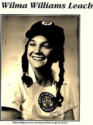 Wilma Ann Williams-Leach played in the All-American Girls Professional Baseball League. Her granddaughter, Aubrey, plays softball at Tennessee.