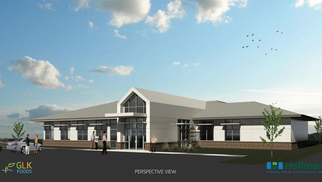 GLK Foods is building a new headquarters, seen here in an artist's illustration.