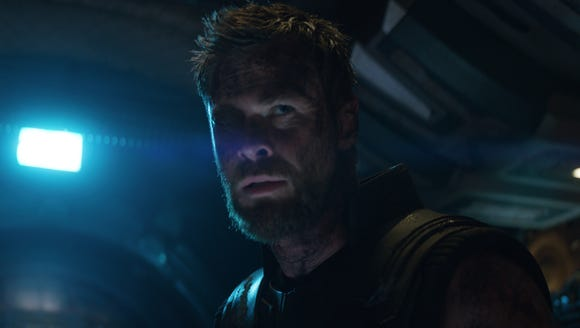 "Thor (Chris Hemsworth) watched his magical hammer get destroyed in ""Ragnarok,"" but the thunder god got a new weapon in ""Avengers: Infinity War."" (Photo: MARVEL STUDIOS)"