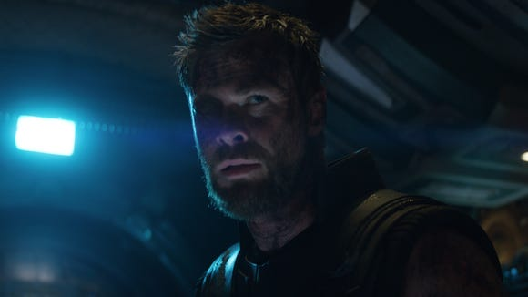"Thor (Chris Hemsworth) watched his magical hammer get destroyed in ""Ragnarok,"" but the thunder god got a new weapon in ""Avengers: Infinity War."""