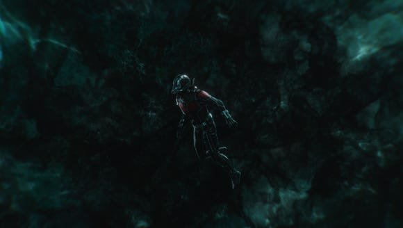 Ant-Man (Paul Rudd) gets stuck in the Quantum Realm
