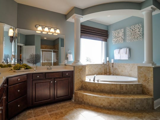 This is the master bathroom in the Avalon V floor plan.