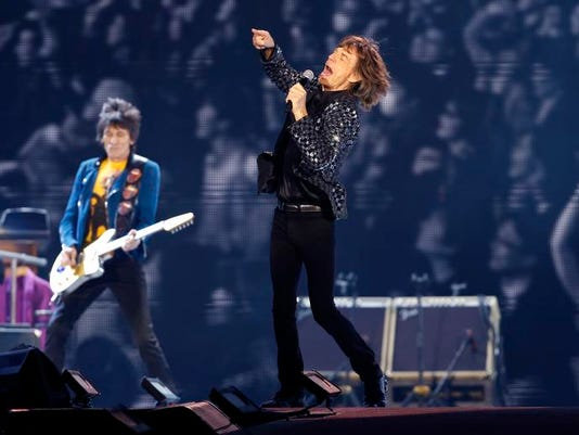 Mideast Israel Rolling Stones