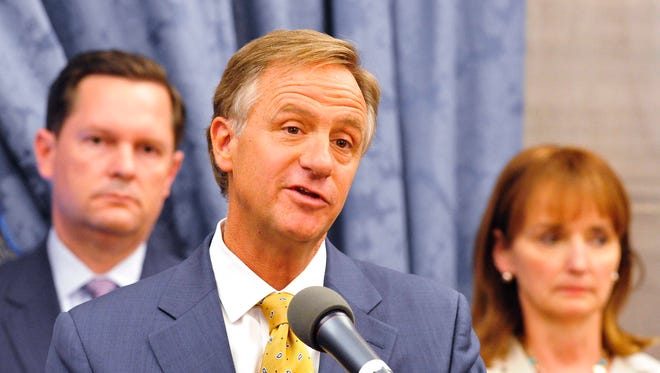 "Gov. Bill Haslam signed into law a controversial bill that says no licensed counselor or therapist must serve a client whose ""goals, outcomes or behaviors"" conflict with the counselor's ""sincerely held principles."""