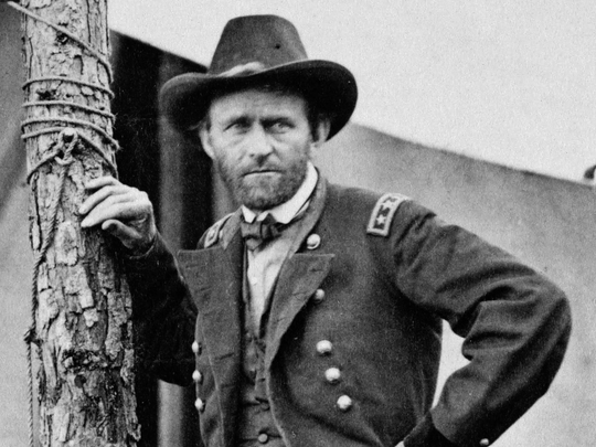 A portrait of Gen. Ulysses S Grant in 1864. In a new biography, Ron Chernow profiles Grant as an underestimated president.