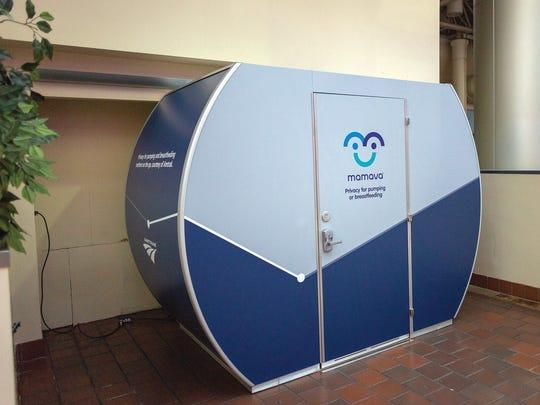 Amtrak train station has installed a Mamava lactation