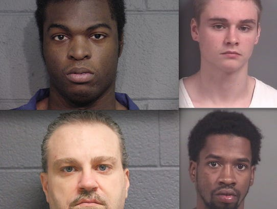 Top row, from left: Jonathan Jones and Zachary Mulholland.