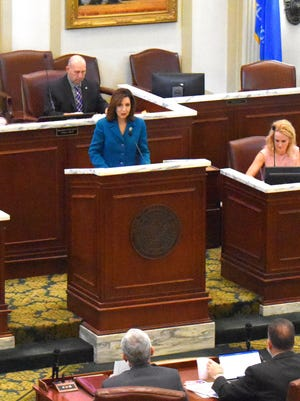 Oklahoma State Department of Education Superintendent Joy Hofmeister addresses a legislative budget hearing on Thursday. The department is asking lawmakers for $3.29 billion next year, a $220 million increase from FY2020.