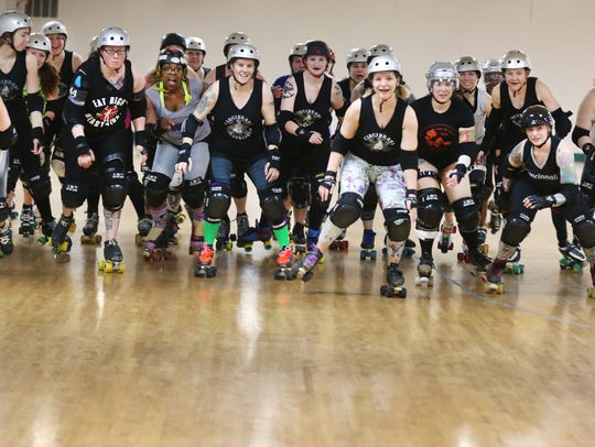 The Cincinnati Rollergirls team are celebrating their