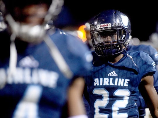 Airline's Branden Marshall had a pick-6 against Zachary