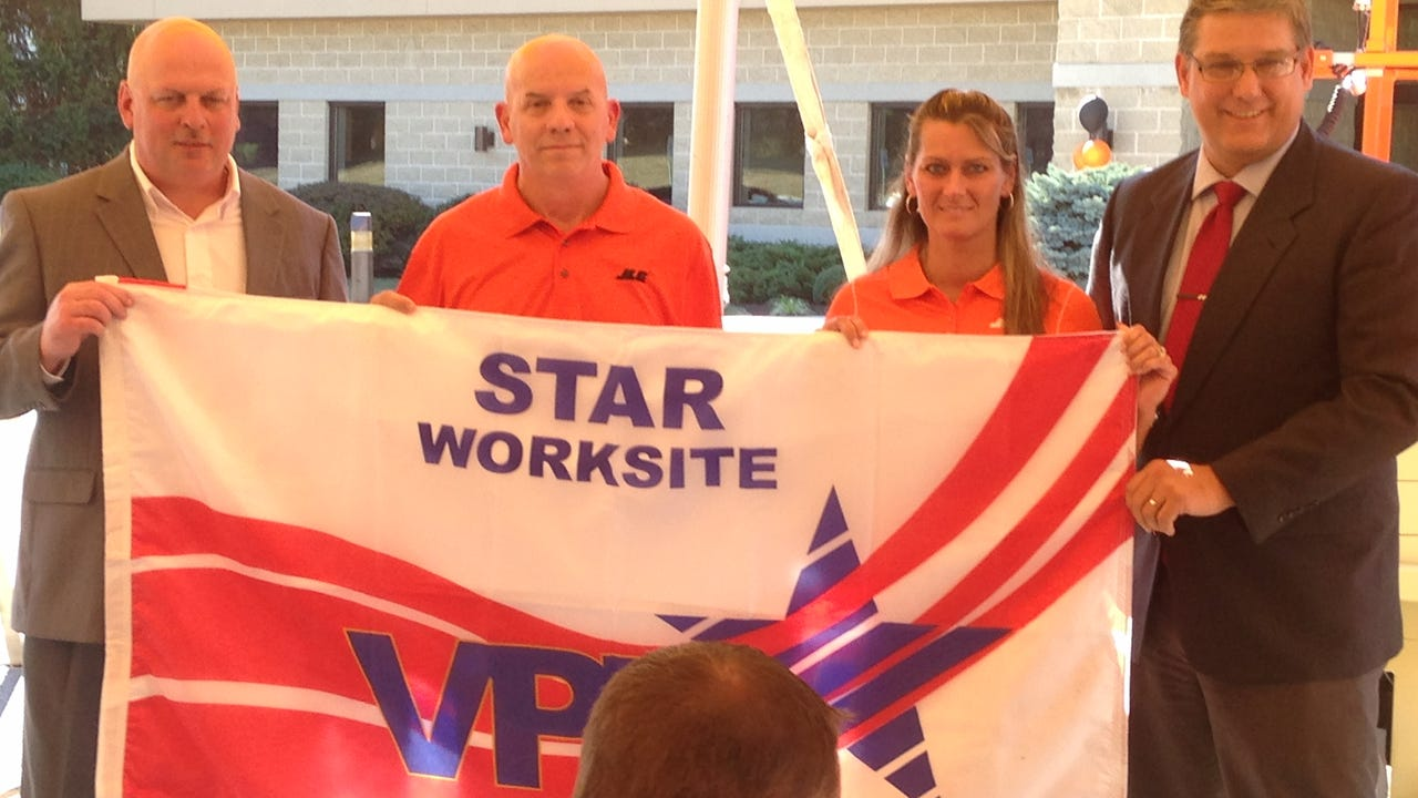 JLG Industries in Shippensburg earned OSHA's Voluntary Protection Program STAR certification of its safety program.
