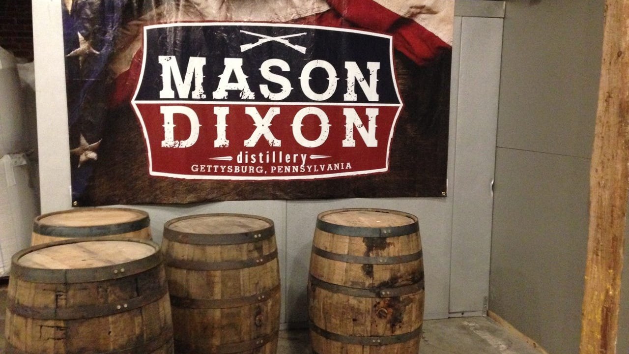 Yianni Barakos, co-owner of Mason Dixon Distillery, talks about the food his restaurant offers, including fresh ingredients from a garden on site.
