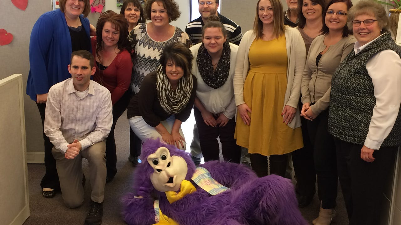 Fun Factory Sweet Shoppe of Rhinelander is opening a pop-up shop in downtown Marshfield at 405 S. Central Ave. Thursday through Tuesday and used a purple gorilla that visited downtown business to spread the word.