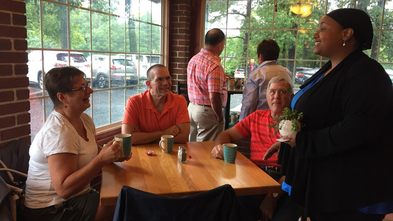 Coffee lovers turned out in large numbers for the grand reopening of the Pemberton CoffeeHouse
